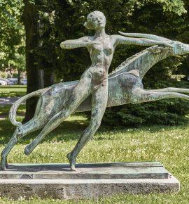Diana mit springender Antilope