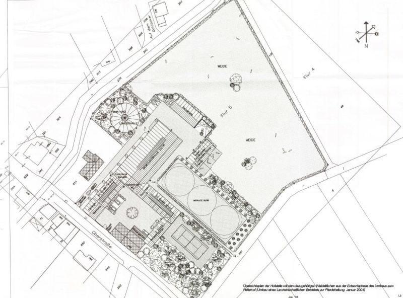 Aufsicht auf die Hofanlage in Morschenich-Alt, Quelle TU Darmstadt